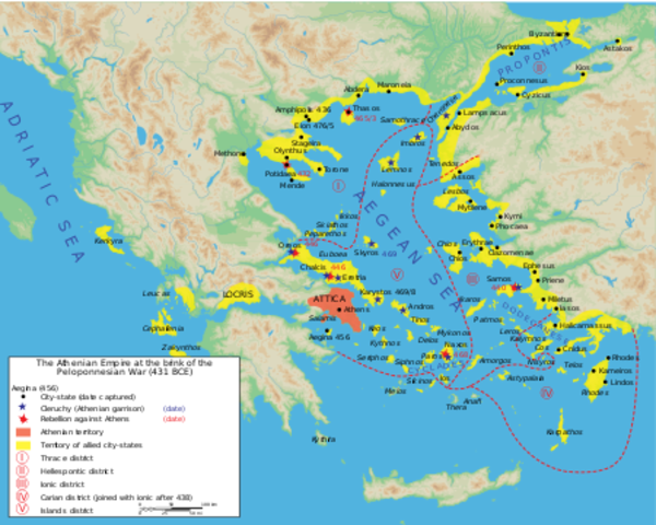 Athens leads Delian league (And creation of Delian league)