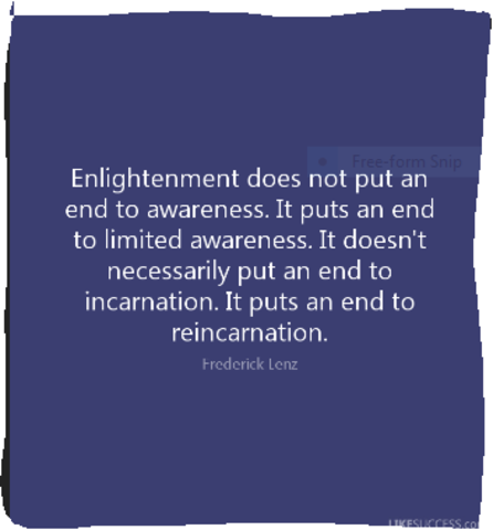 An end to enlightenment