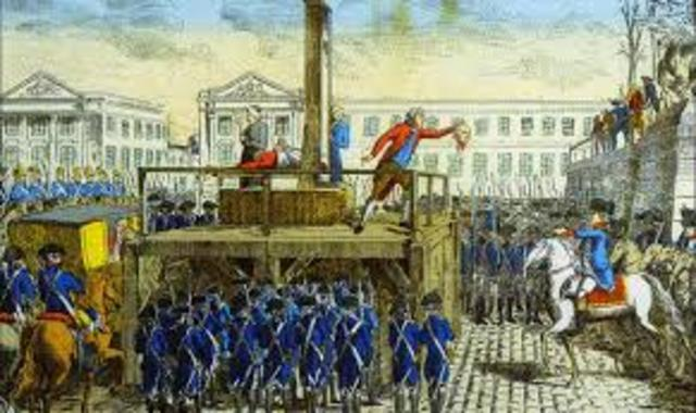 Louis XVI executed