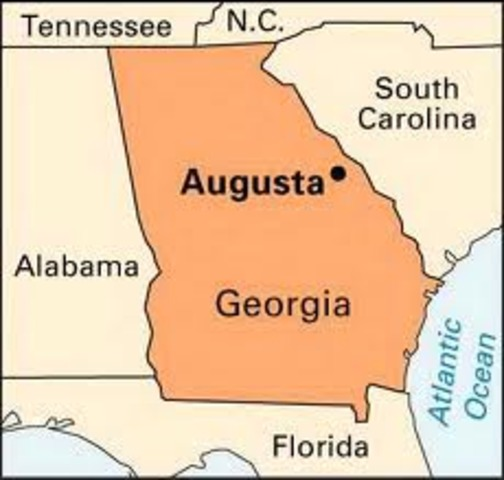 Georgia's Capital Moved to Augusta