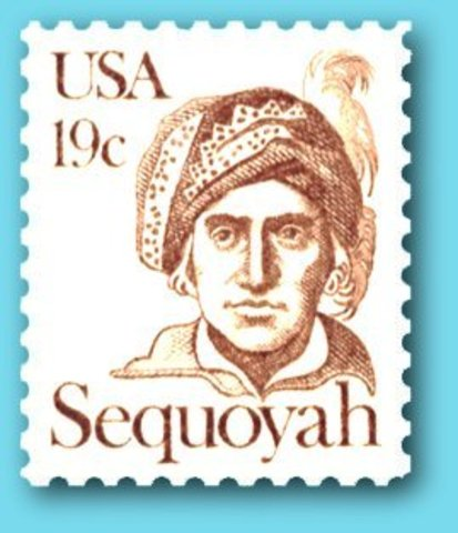 Sequoyah begins working on his Cherokee Syllabary