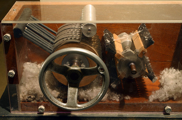 Eli Whitney patents the cotton gin