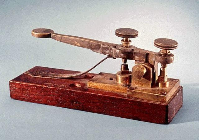 Samuel Morse invents the telegraph.