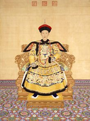 Qianlong begins reign as emperor of China