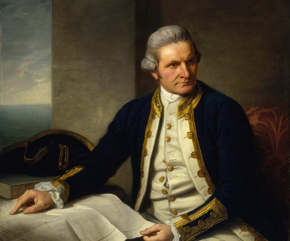 James Cook's arrival in Australia and New Zealand