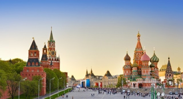 The capital of Russia is changed from St. Petersburg to Moscow