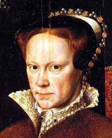 Mary Tudor timeline | Timetoast timelines