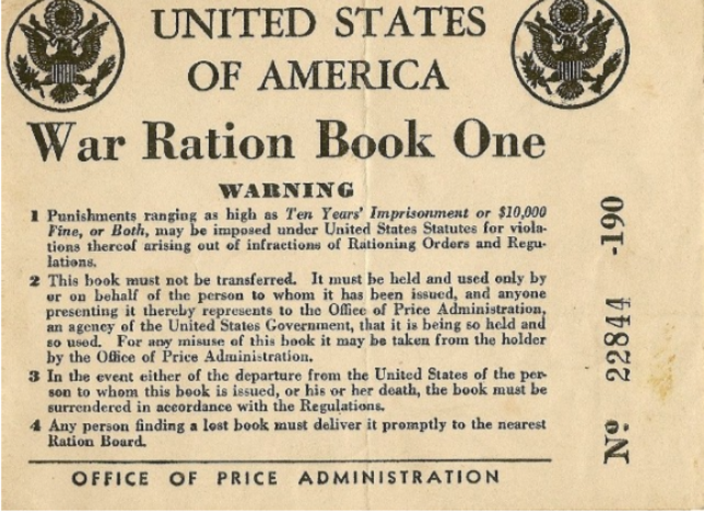 Office of Price Administration issues Ration Book One