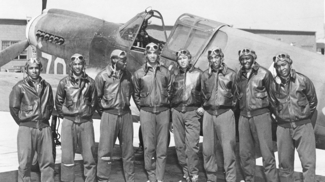 The Tuskegee Airmen undertake their first combat mission