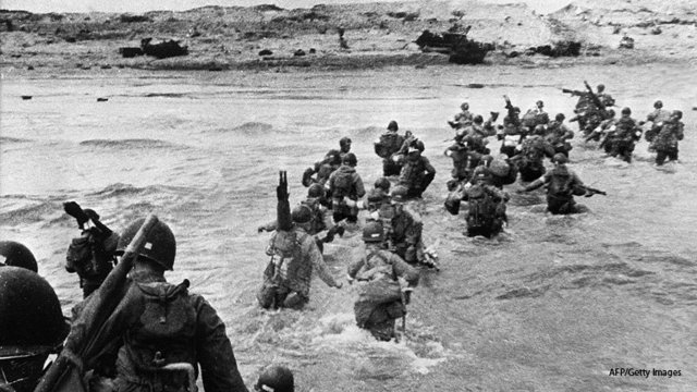 D-Day: Allied Forces come ashore in Normandy, France