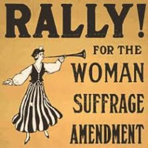 The 19th amendment is passed