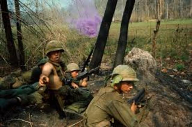 The vietnam war begins
