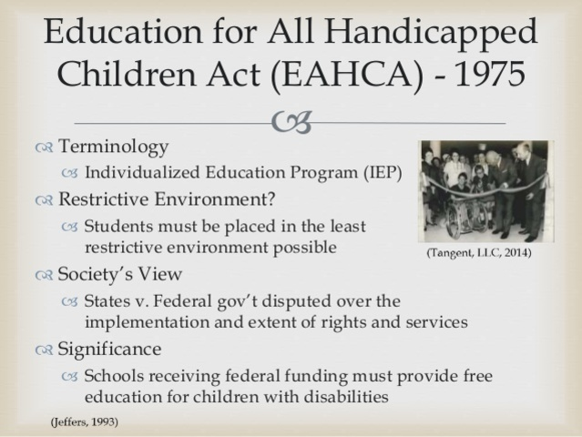 Federal Education of All Handicapped Children Act