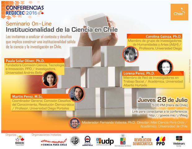 2do Webinar REDICEC-Chile Global: Institucionalidad de la Ciencia en Chile