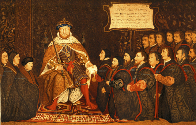 Henry VIII Breaks with Rome, Declared Head of Church of England