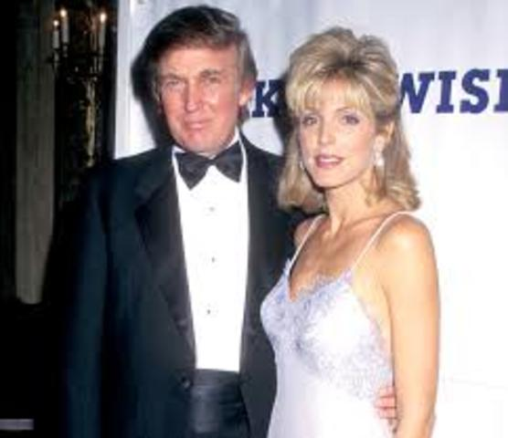 Second wife Marla Maples