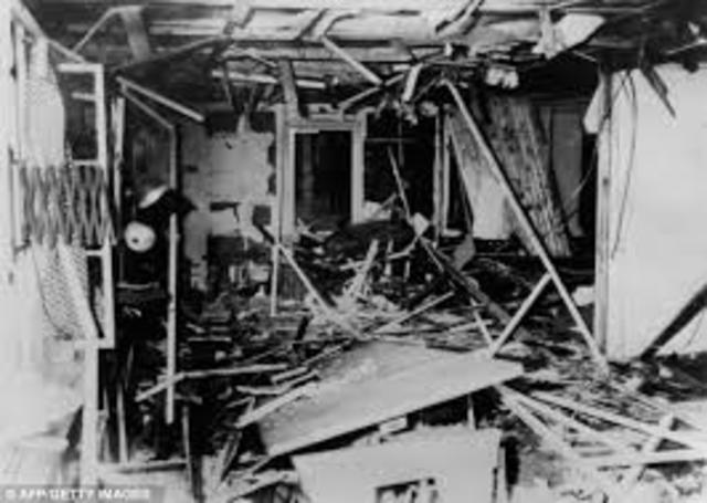 Bombing at Hitler's headquarters