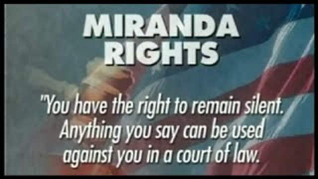 •	Miranda v. Arizona