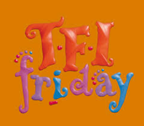 Debut of 'TFI Friday'