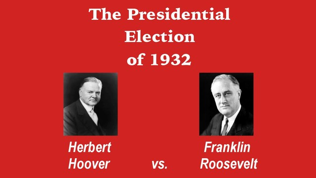 a comparison of franklin roosevelt and herbert hoover Hoover roosevelt comparison |herbert hoover |franklin delano roosevelt |.