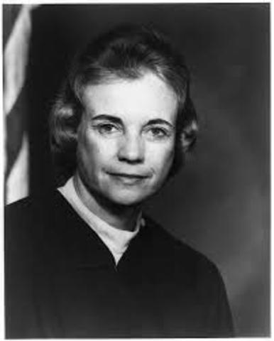 Sandra Day O'Connor Appointed to U.S. Supreme Court