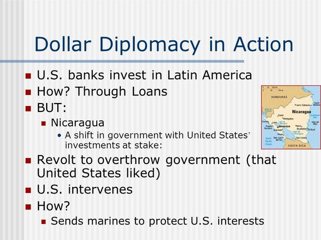 Dollar Diplomacy Established