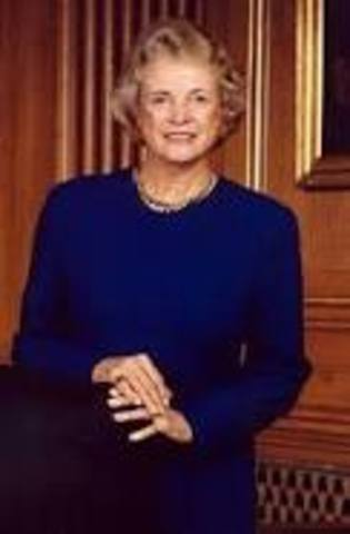 •	Sandra Day O'Connor Appointed to U.S. Supreme Court