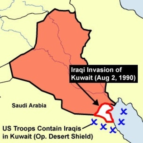•	Iraq Invades Kuwait