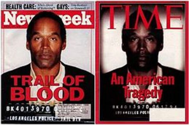 "•	O.J. Simpson's ""Trial of the Century"""