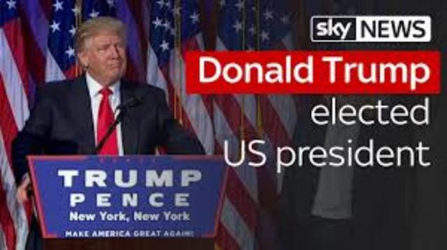 Donald Trump Elected President