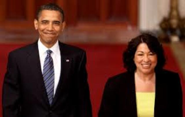 •	Sonia Sotomayor Appointed to U.S. Supreme Court