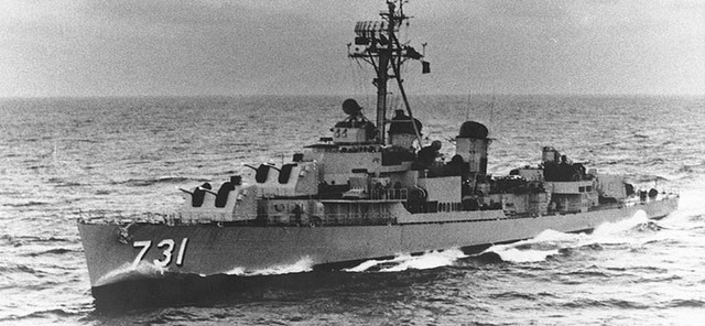 USS Maddox attacked