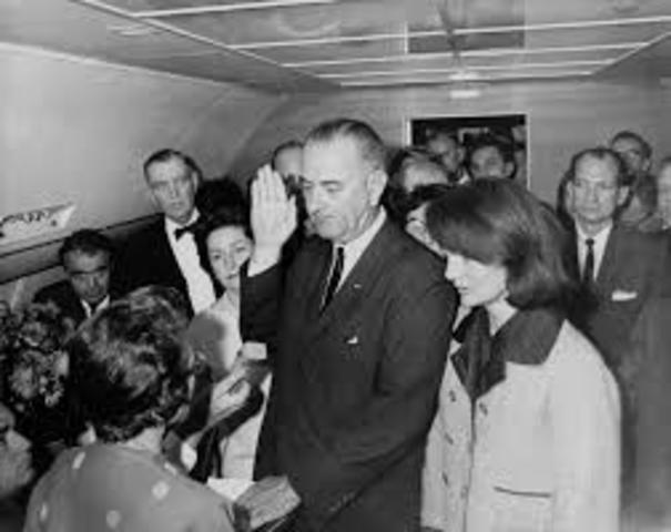 President Lyndon Johnson takes over