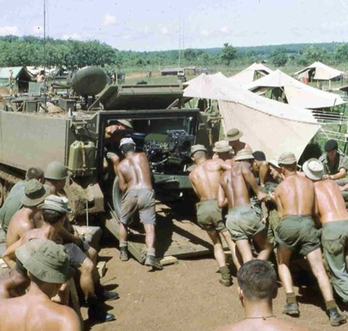 U.S. troops arrive in Vietnam