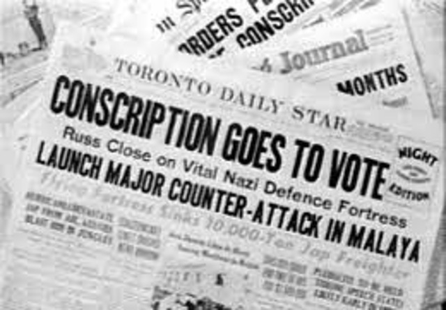 The Conscription Crisis Canada