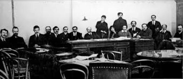 Lenin instated as chairman of the council of Peoples commissars