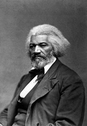 Fredrick Douglass joins Abolitionist Movement