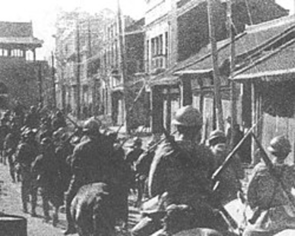 Manchurian Incident - Japanese army fakes a railway bombing by the Chinese and without official approval, Japan invades Manchuria. Manchuria becomes a state that was controlled and protected by Japan.