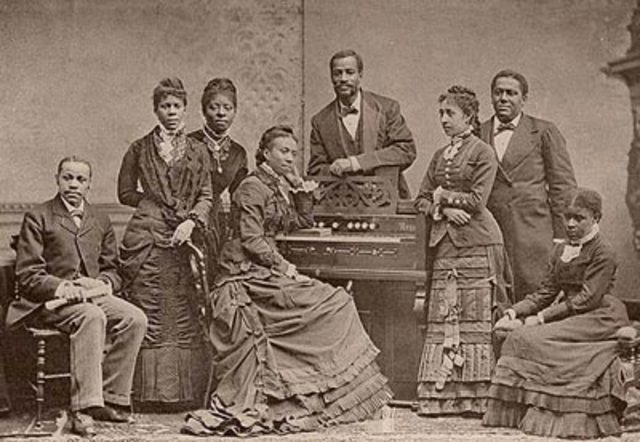 First performance by Fisk Jubilee Singers