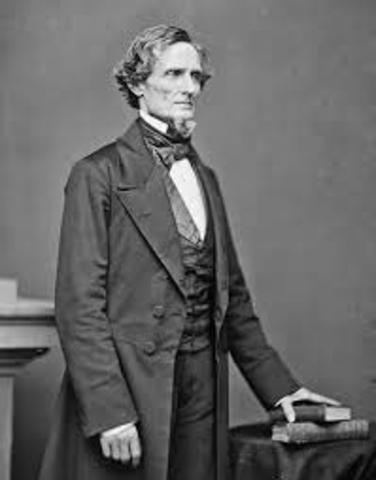 Jefferson Davis appointed president of Confederacy