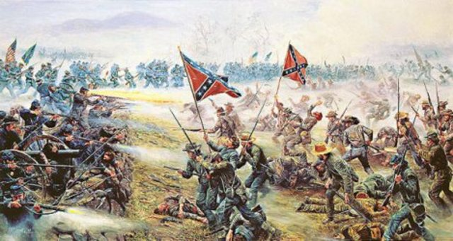 "George Pickett leads ""Pickett's Charge"" at Gettsburg"