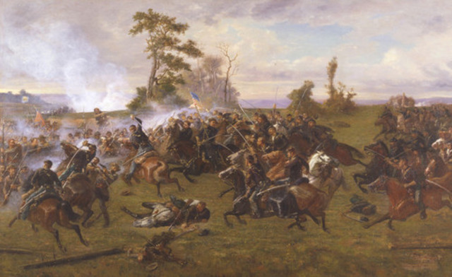 George Pickett defeated at The Battle of Five Forks
