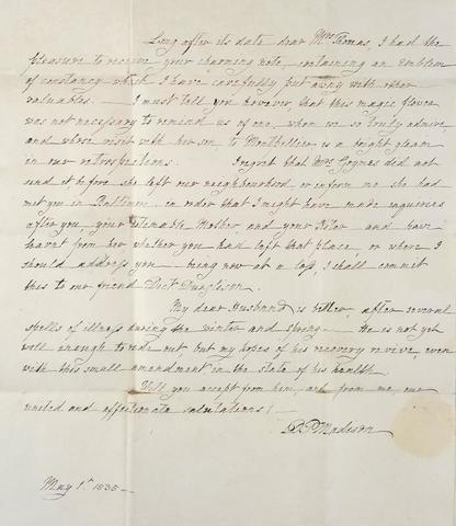 Letter to Edward Coles