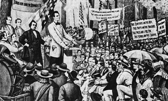 The First Lincoln-Douglas Debate