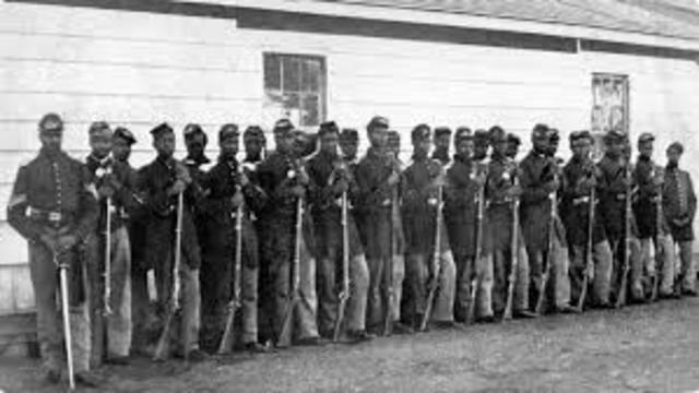 54th Massachusetts Colored Infantry in combat