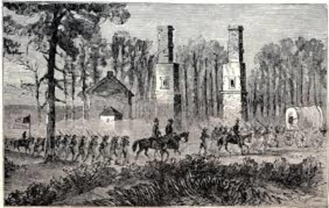 Sherman's Army of Georgia arrives at Savannah, Georgia