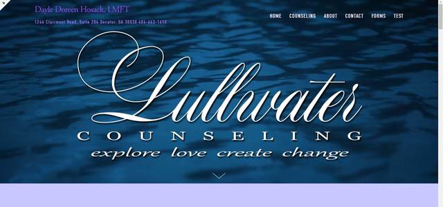 Lullwater Counseling Website
