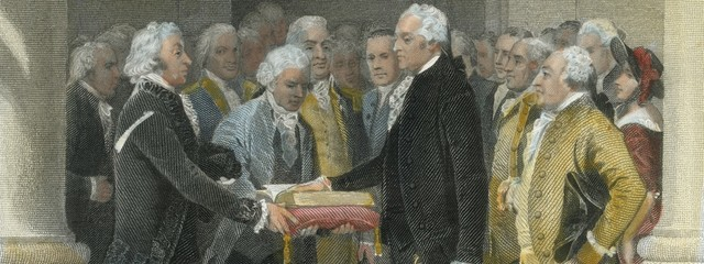 George Washington becoming the first President