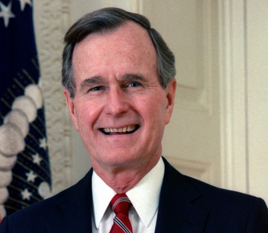 George H. W. Bush in office