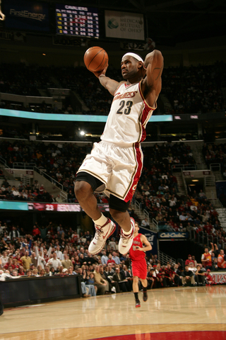 Lebron's first dunk